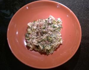 Paleo Zucchini Carbonara Pasta