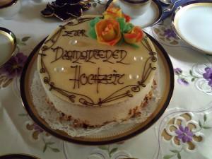 Goldene Hochzeit Cake