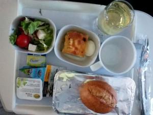 Lunch in Lufthansa plane A-380