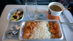 Snack in Lufthansa A-380