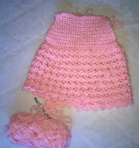 Pink Baby Dress in the works