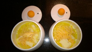 egg-tastic cooker with egg mixture